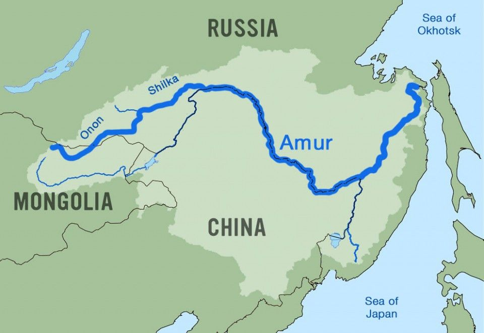 Amur River Longest Rivers In The World Pinterest Rivers And - World map parana river