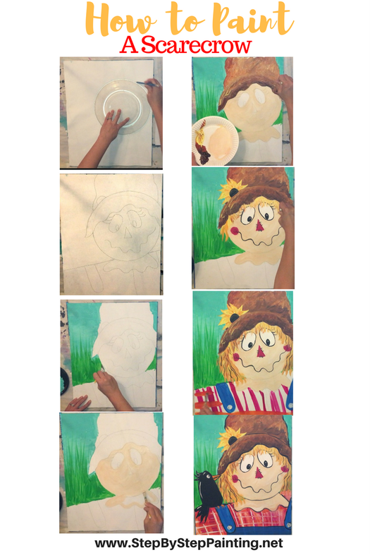 How To Paint A Scarecrow is part of Fall canvas painting, Art painting, Painting, Step by step painting, Easy canvas painting, Scarecrow painting - Learn how to paint a scarecrow with Tracie's acrylic canvas painting tutorial! Step by step instructions with detailed pictures  Great for beginners!