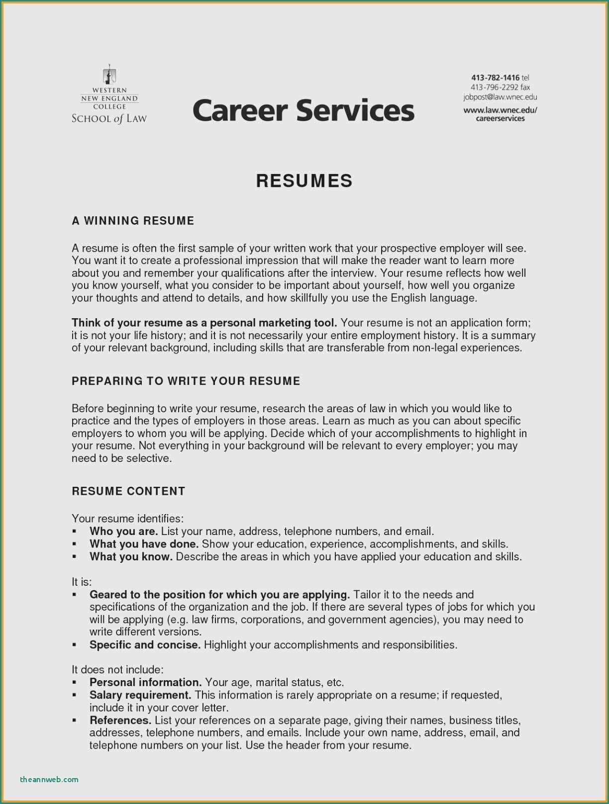 76 Inspiring Gallery Of Sample Resume With Professional References