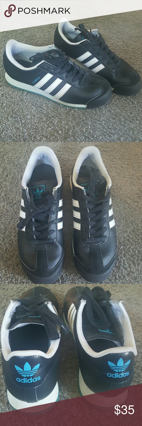 Adidas Samoa Size 5 Adidas Samoa Size 5. Black, white and blue. Good condition. Few scuff marks Adidas Shoes Sneakers