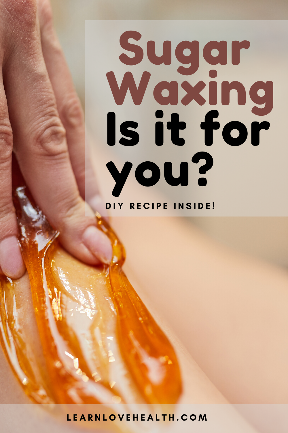 how to make sugar wax in the microwave