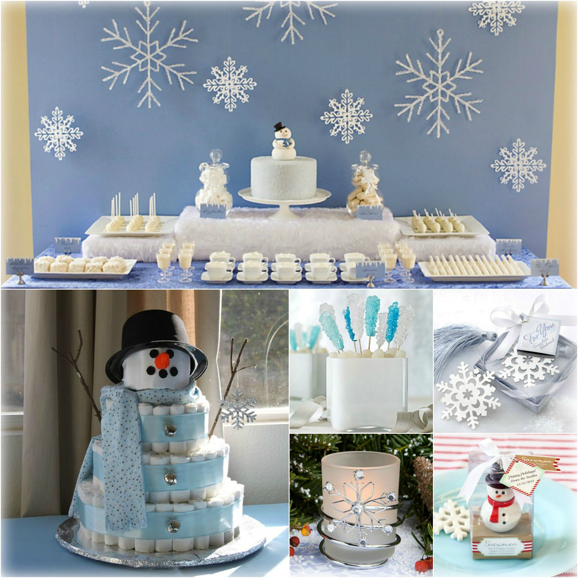 Winter Wonderland Baby Shower Snowflake Baby Shower Winter Wonderland Baby Shower Baby Shower Winter