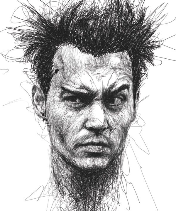 Remarkable Face Sketches by Vince Low | Characters ...