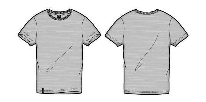41 Blank T Shirt Vector Templates Free To Download The