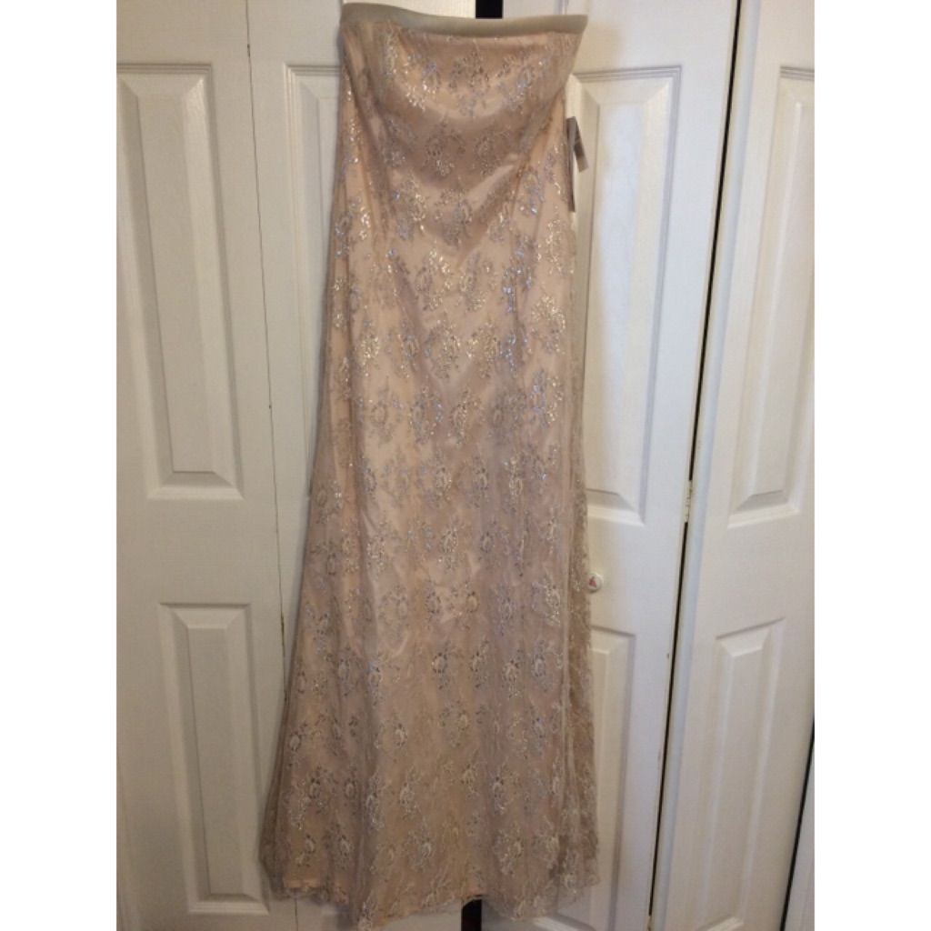 Timeless champagne colored promevening dress nwt products