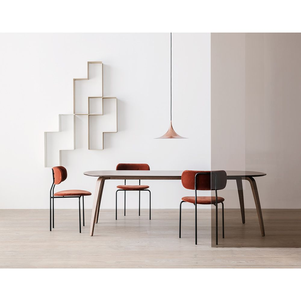 Coco dining chair rust black base rouse home gubi