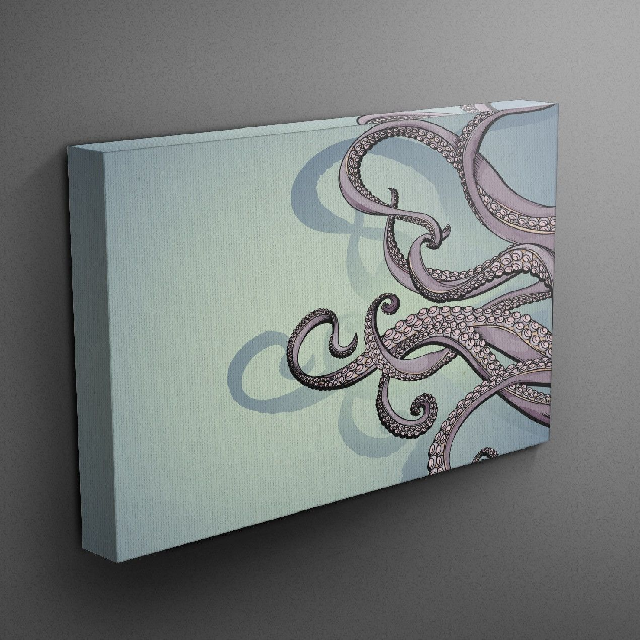 octopus gallery wrapped canvas | octopus decor, graphics and
