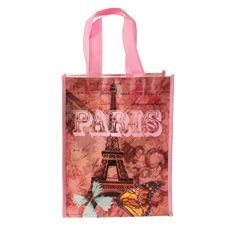 Spring in Paris Small Reusable Tote