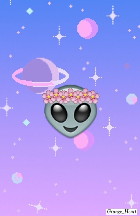 Alien Amazing Background Emoji Flower Crown Galaxy Girl Gorgeous Grunge Hipster In Iphone My Edit Overlay Pastel Goth Planets E