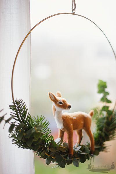 Draußen vom Walde | DIY Idee Fensterdeko im Advent - RheinHerztElbe.de #fensterdekoweihnachten