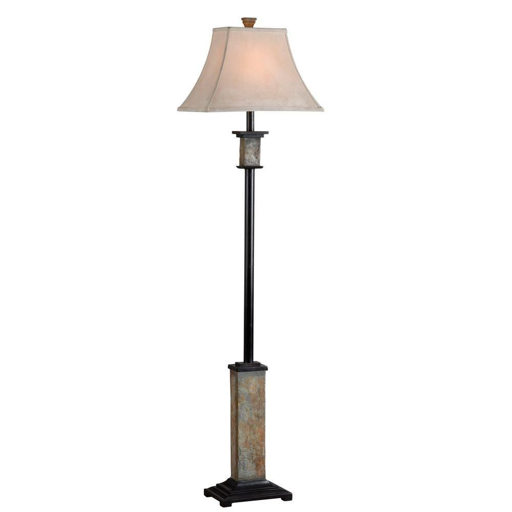 Kenroy Home Bennington 62 In Natural Slate Floor Lamp Floor