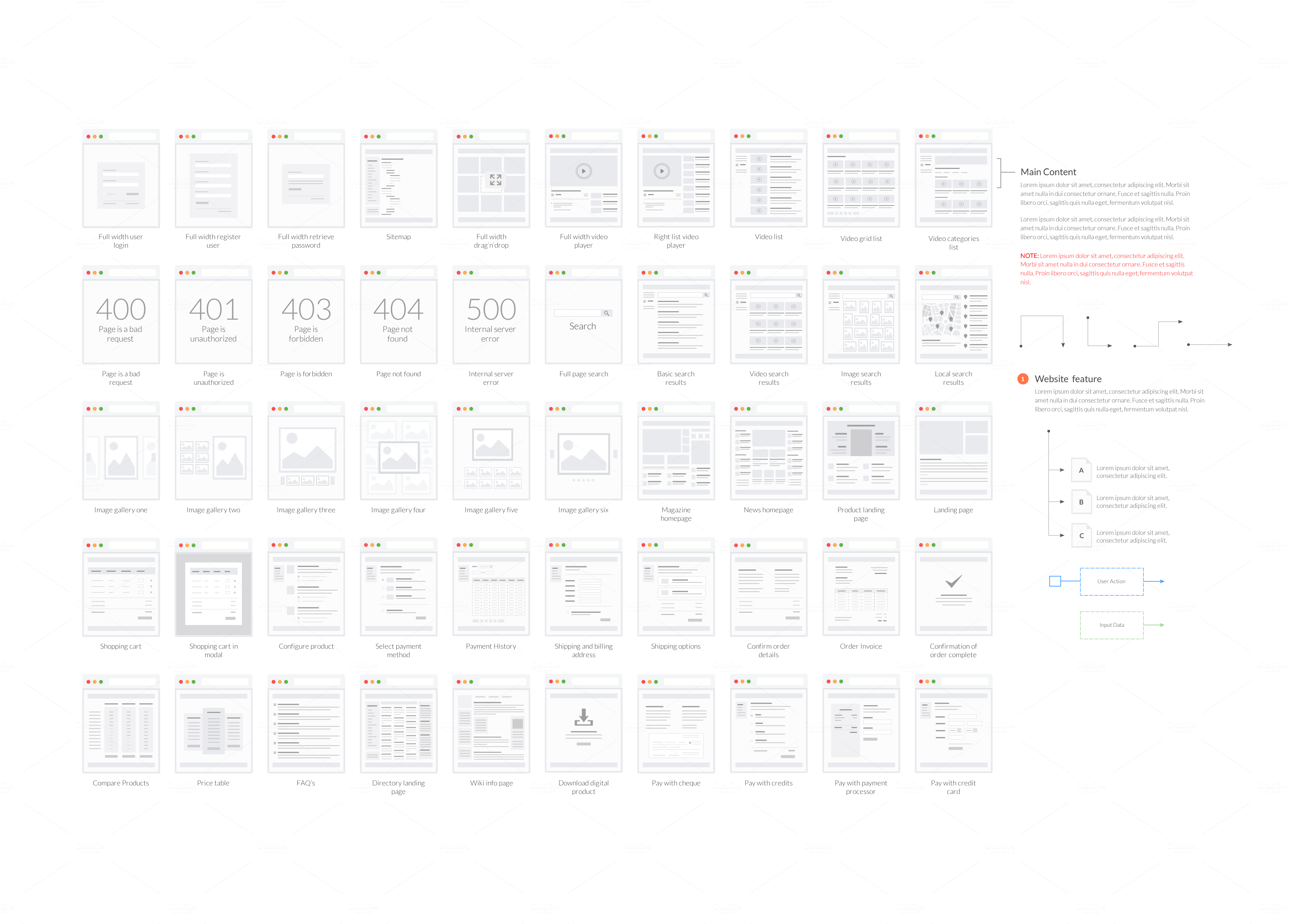 Tiles for Wireframes & Flowcharts V2 by firetuts on