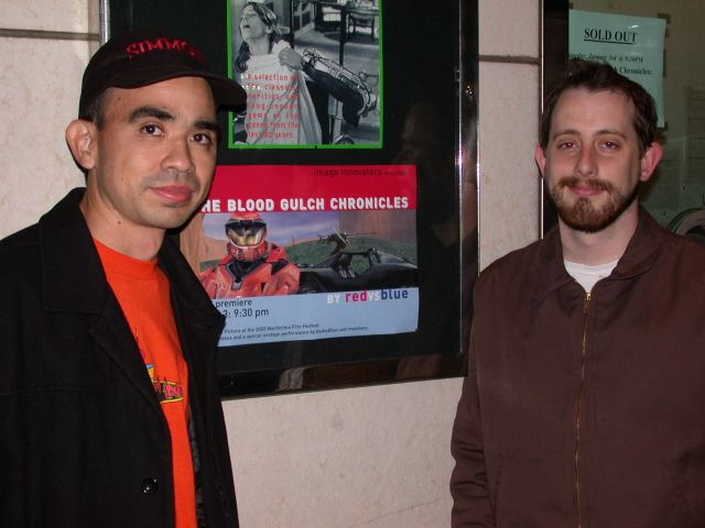 Gus and Geoff at the screening for season 1. So long ago