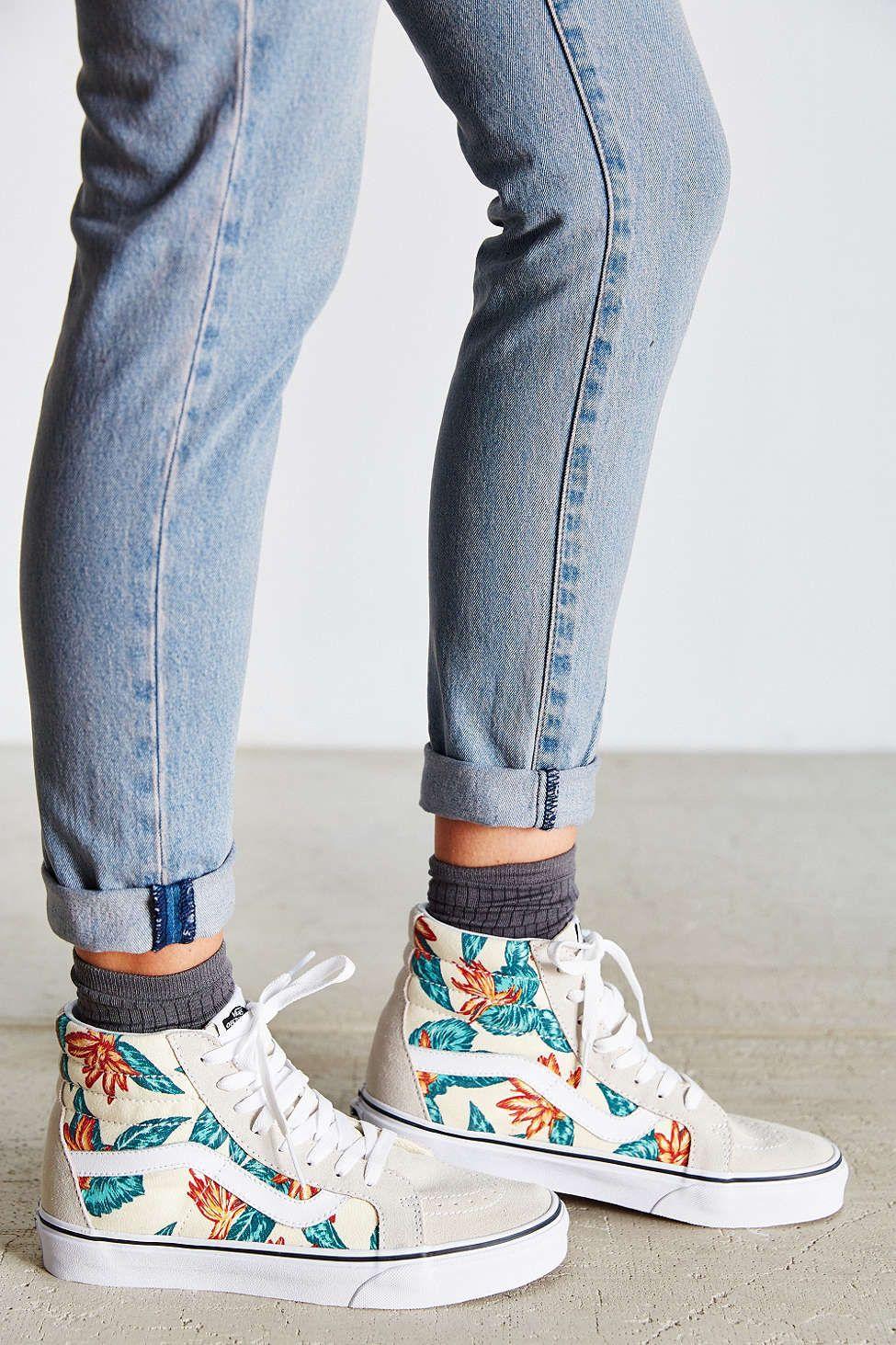 Vans Sk8-Hi Reissue Vintage Aloha Sneaker - Urban Outfitters ...
