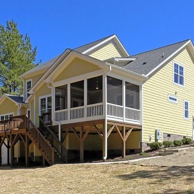 Two Story Deck Design Ideas Pictures Remodel And Decor Second Story Deck House With Porch Deck Design
