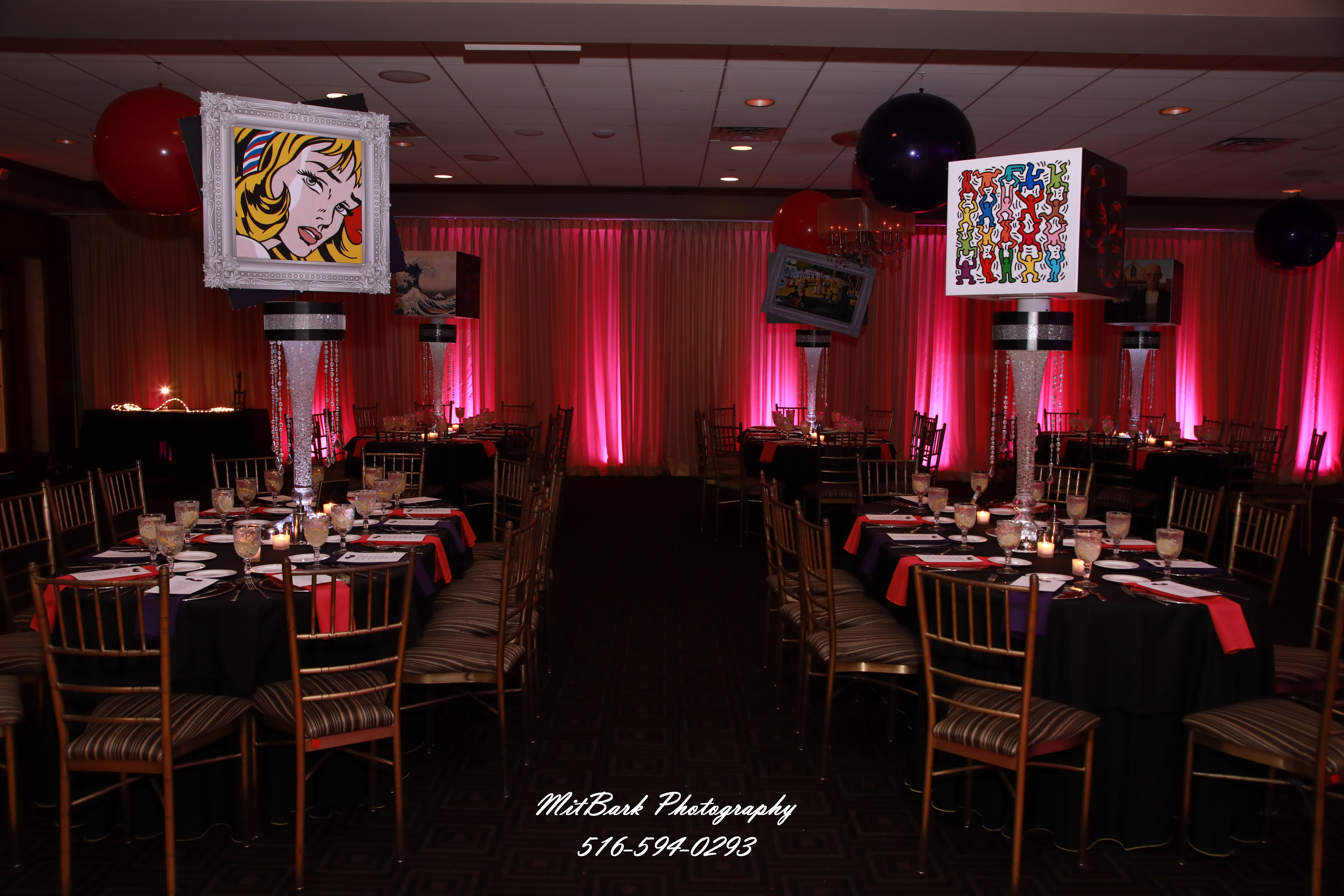 Themed Art Table Decor In 2020 Table Decorations Art Table Bat Mitzvah