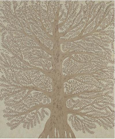 'Zebra Finch Tree': Marina Strocchi: 2009: acrylic on linen: 122.5 x 184cm