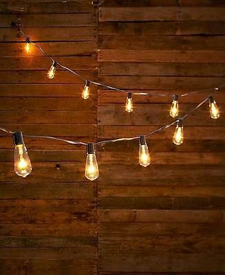 clear vintage edison style bulb string of lights outdoor porch patio home decor bulbs porch. Black Bedroom Furniture Sets. Home Design Ideas