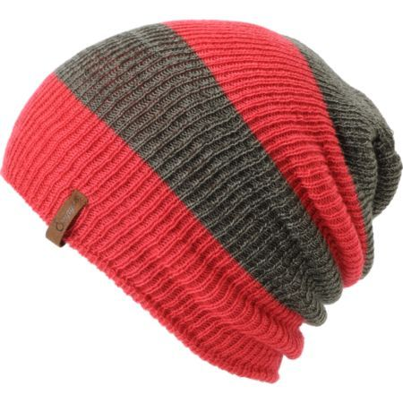 0c6181d5ca152 Empyre Girls Piper Pink   Charcoal Rugby Stripe Beanie