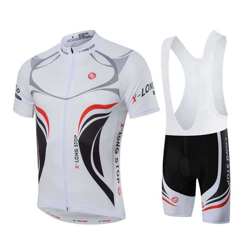 HOT Men MTB Cycling Clothing Summer bike Jersey Bib ShortsWhite Male Outdoor  Sports Pro team ropa Bicycle Top Maillot Ciclismo - Mountain Bikes For Sale 83f723197