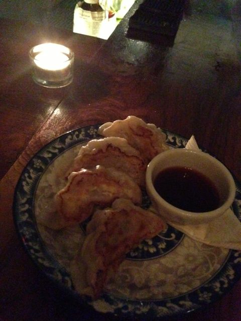 Pork and corn dumplings at Food and Liquor...light pastry, filling was bursting with flavour and not heavy at all. Delicious sauce for dipping...a new favourite on the Queen West strip