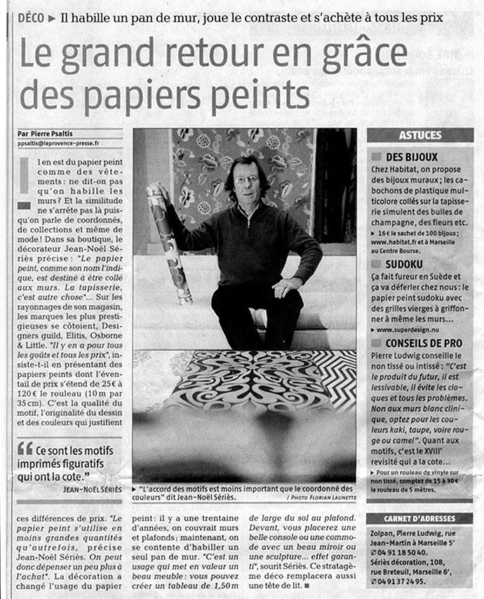Papier Peint Tissus Peinture Marseille France Shop