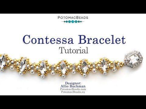 Photo of Contessa bracelet – DIY jewelry making tutorial by PotomacBeads – Contessa …