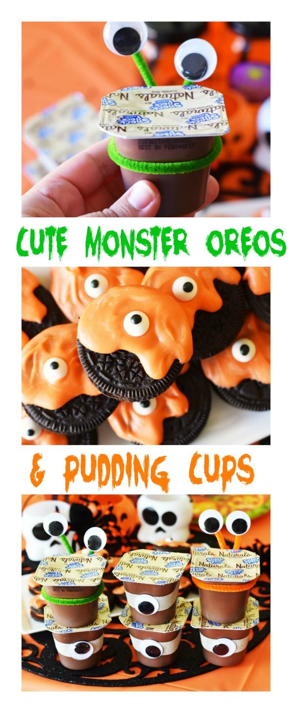 Monster Oreos & Pudding Cups Party Treats | Recipe