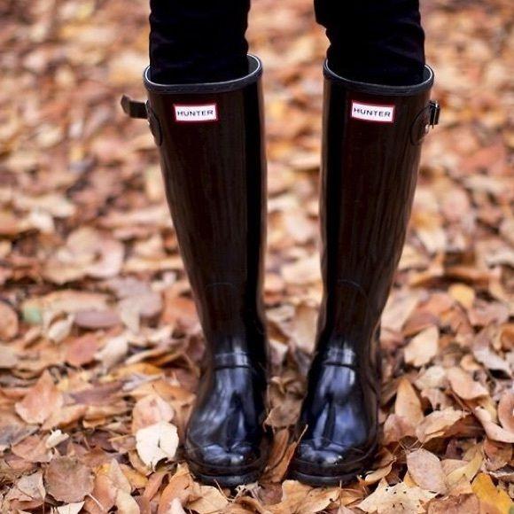 Hunter gloss boots black   Black hunter