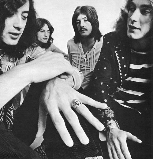 Led Zeppelin in 1969, by Ron Raffaelli