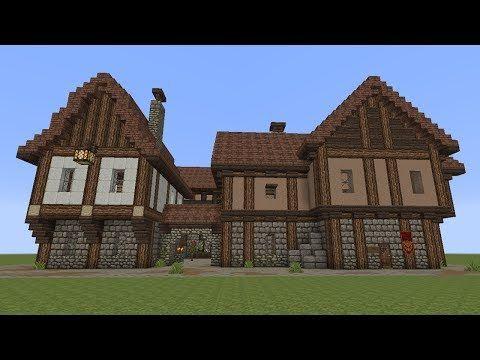 Minecraft Fachwerkhäuser Halftimbered House YouTube - Minecraft hauser bauideen