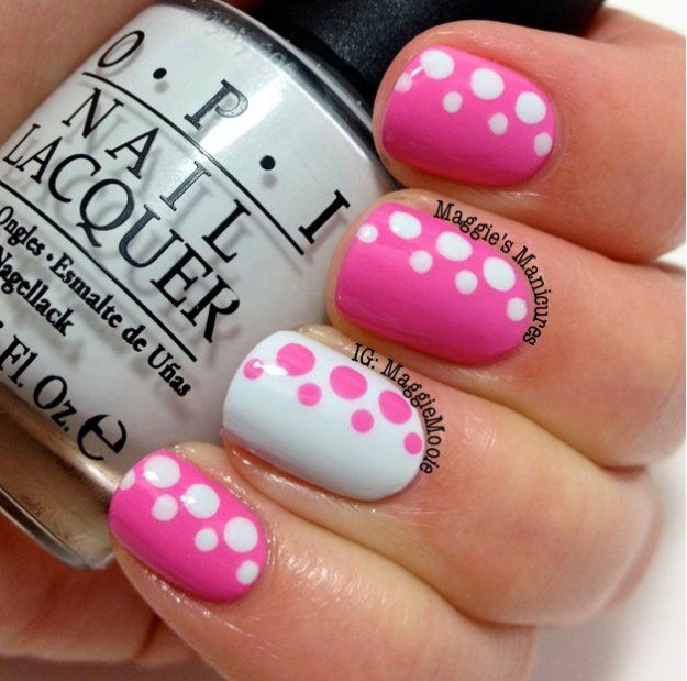 11 Must Try Polka Dot Nail Art Designs Nail Tutorials Pinterest