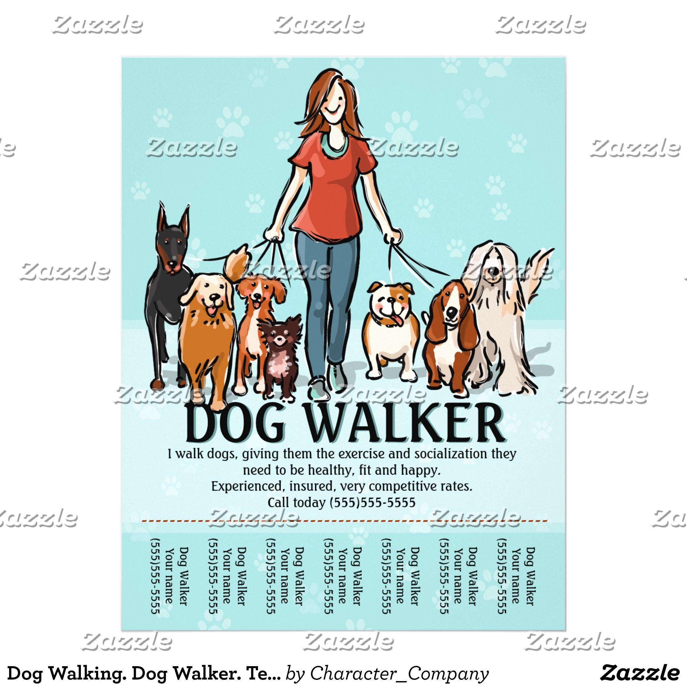 Dog Walking. Dog Walker. Tearsheet Flyer | Dogs | Pinterest | Dog ...