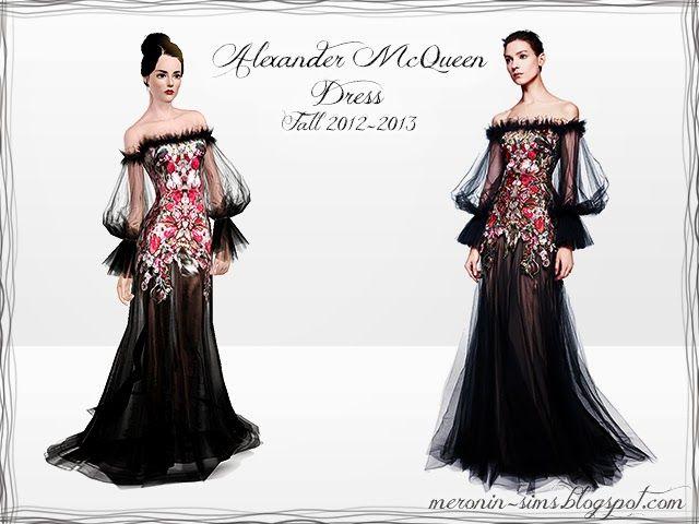 Alexander McQueen Fall 2012-2013 Dress by Meronin
