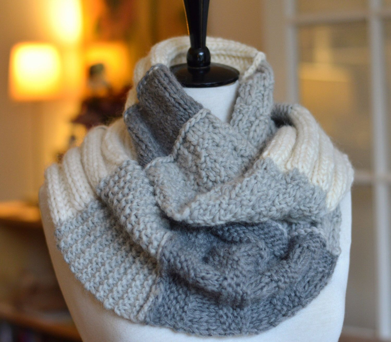 Easy Knitting Pattern Infinity Scarf Sampler Infinity Scarf Quick ...