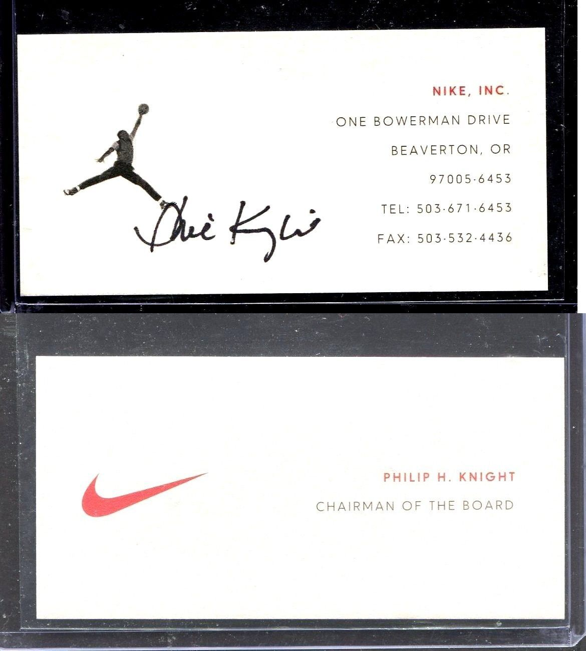 Other Signed NCAA Football 23797: Signed Business Card, Phil Knight ...