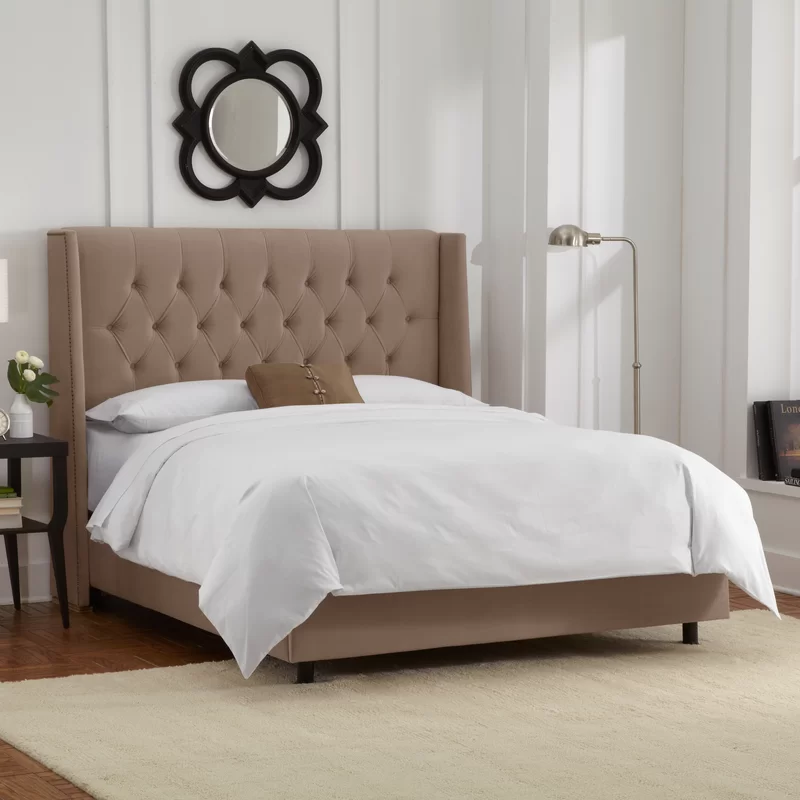 Florine Upholstered Standard Bed & Reviews Joss & Main