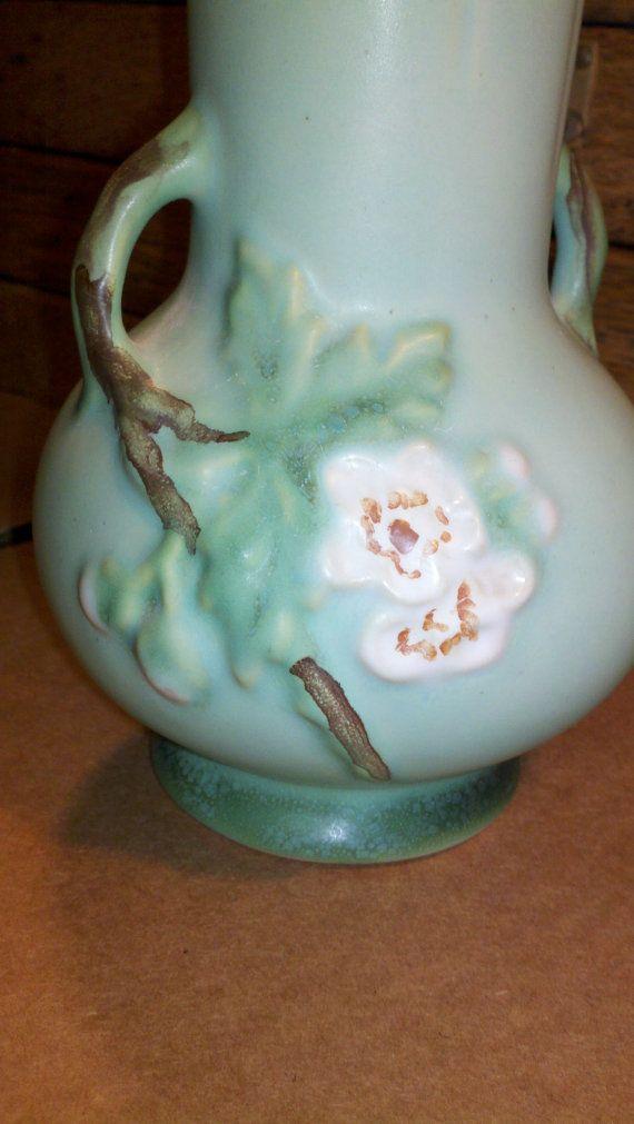 Vintage Floral Weller American Art Pottery Vase By Oldyankeetrader