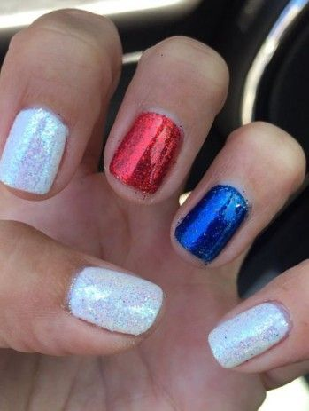 Red Blue And White Nails Stars And Stripes Independence Day Nails