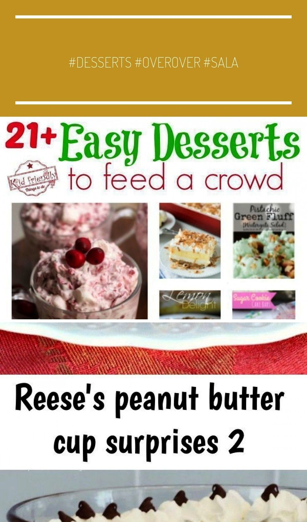 Desserts that Will Feed a Crowd - Slab Pies, Sheet Cakes, Bars, Jello Salads and More! -Over 21 Eas