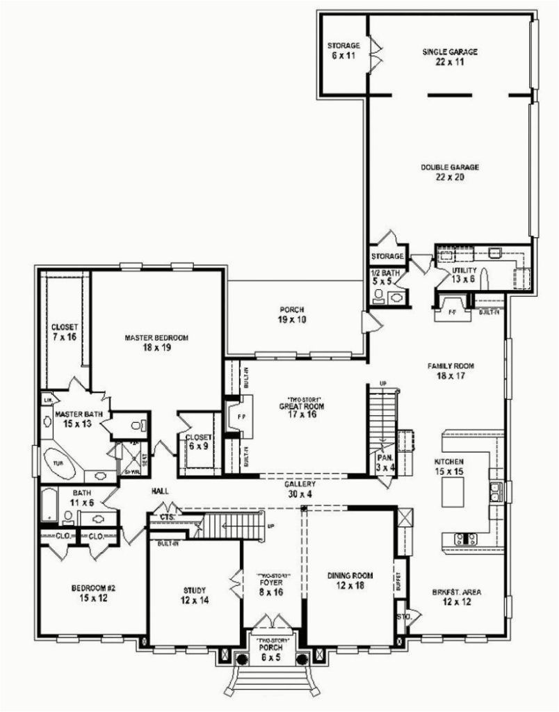 Awesome 5 Bedroom House Plans Single Story Nz 5 Bedroom House Plans Bedroom House Plans House Floor Plans