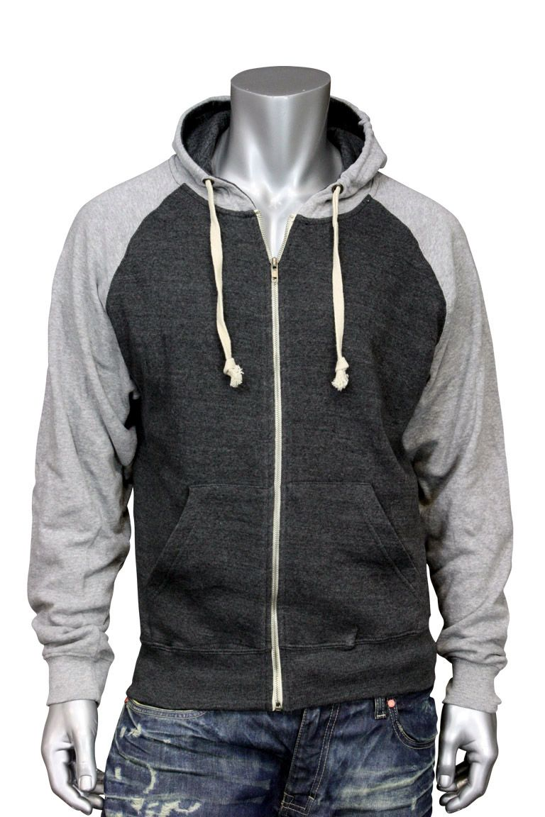 J. America Two Tone Zip Up Hoody Sz. Small Charcoal and H. Grey $27.99 ITSTHEIMAGE.COM