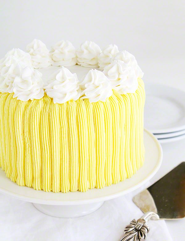 Yellow Buttercream Cake With A Surprise Inside