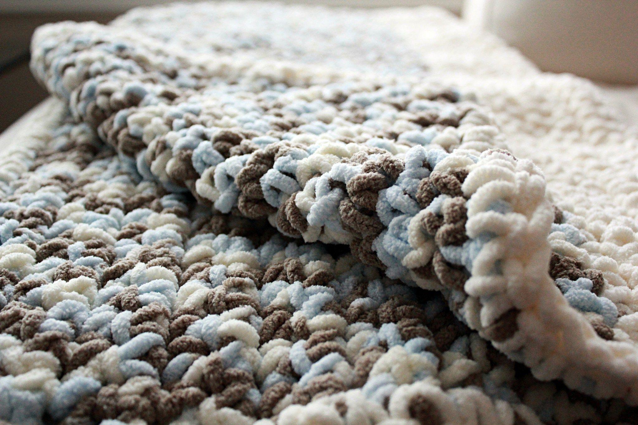 DIY} Lux Crochet Baby Blanket with Free Pattern | Tejido y Bordado