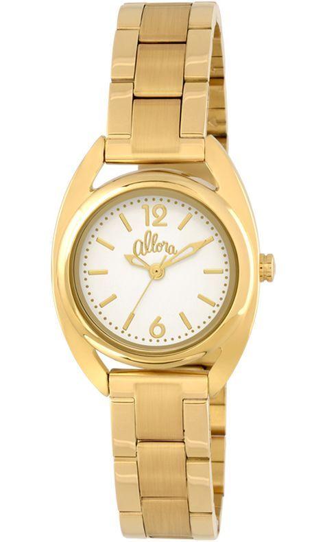 Relógio Allora Feminino Dourado AL2035KL4B   Vestidinhos Pretos ... f6535525c4