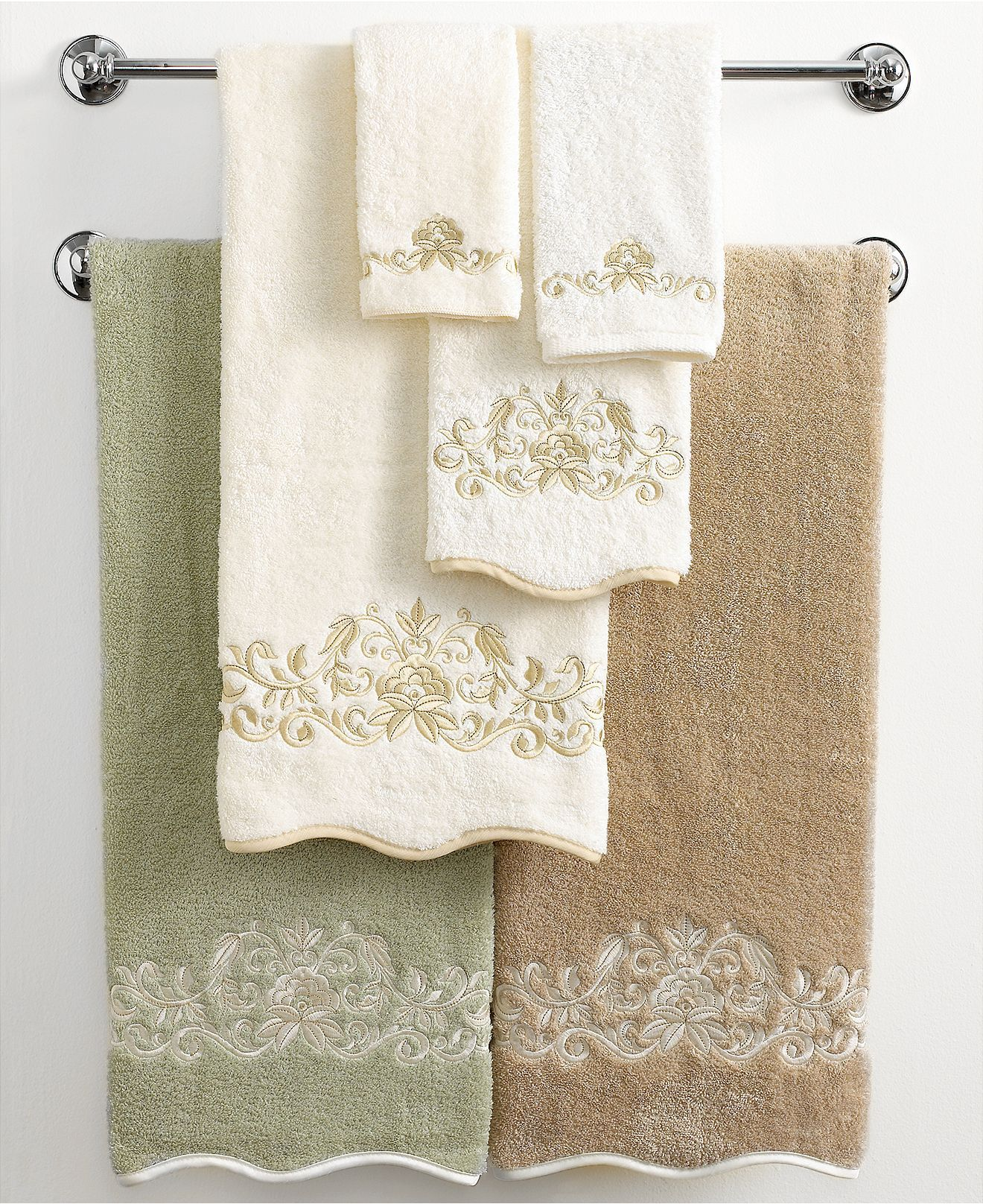 Macys Bath Towels Captivating Avanti Bath Towels Venetian Scroll Collection  Bath Towels  Bed Design Ideas