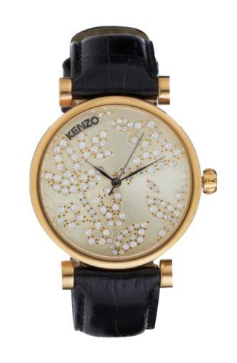 montre femme bracelet cuir kenzo