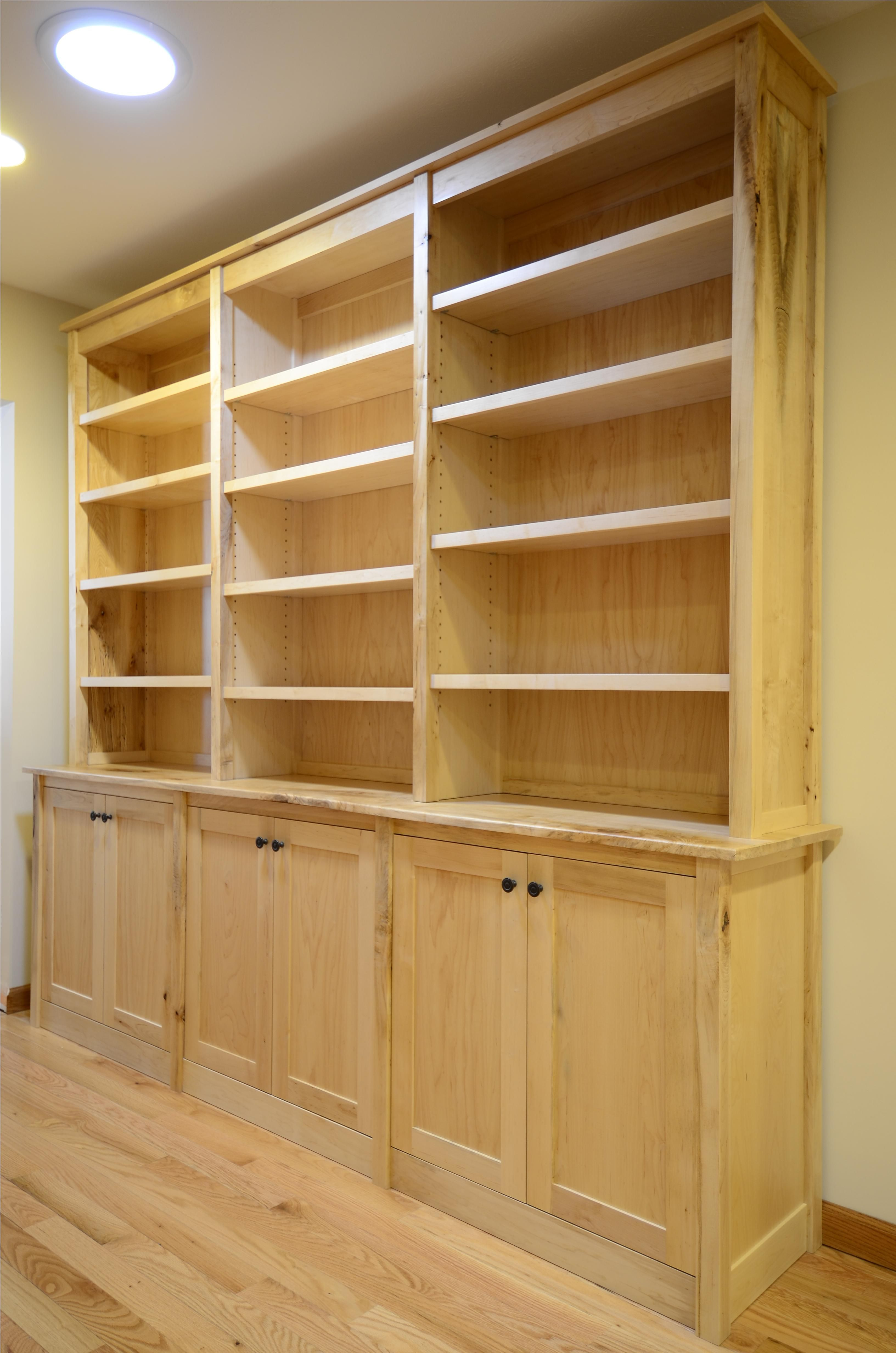 Custom Made Maple Bookcases With Images Bookcase Shaker Style Doors Adjustable Shelving