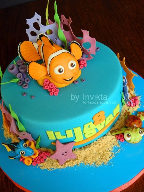 Finding Nemo Birthday Cake With Images Finding Nemo Birthday