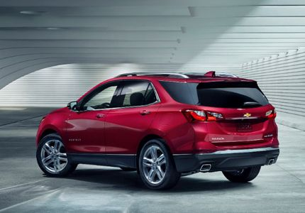 A Three Quarter Rear View Of The 2018 Chevrolet Equinox Chevrolet Equinox Chevy Equinox Equinox Suv